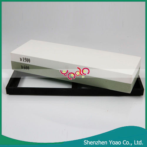 High Quality Non-slip Silicone Base and Double-side Aluminum Oxide Sharpening Stone