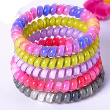 Fashion Multicolored Telephone Wire Cord Elastic Head Tie Hair Band
