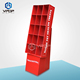 UV Coating Red Cardboard Display Rack Stable Retail For Pet's Food/Festival Promotion