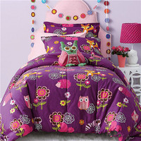 Alternative Down Yellow Purple Patchwork Comforter Set On Sale