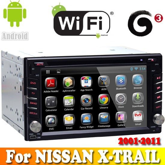 A9 Dual Core android 4.2.2 system touch sreen car dvd gps navigation for NISSAN X-TRAIL 2001-2011 car radio bluetooth wifi 3G