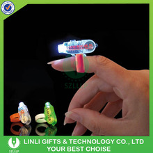 Wholesale Plastic Finger Ring Flashing Led Light with Logo