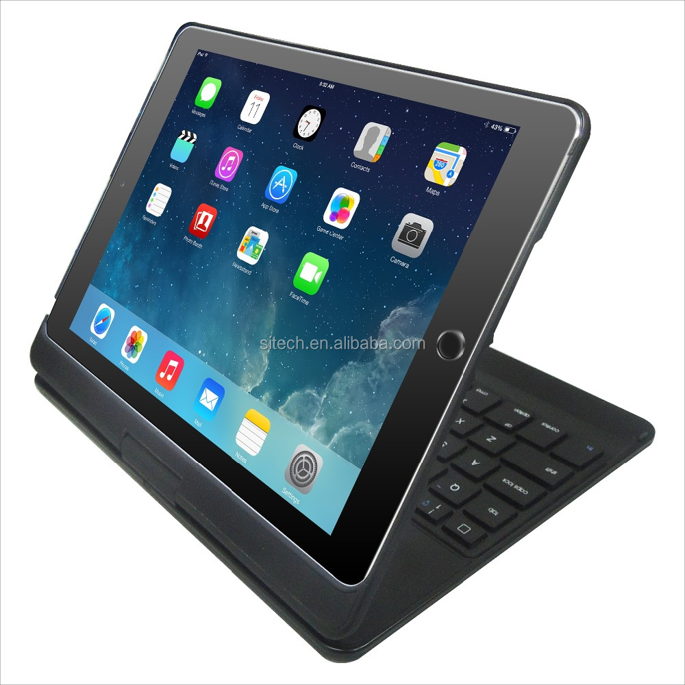 Newest design gift Bluetooth 3.0 wireless keyboard case for tablet PC Bluetooth wireless keypad case for iPad pro air