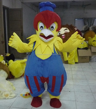 Adult yellow fancy turkey mascot costume for selling