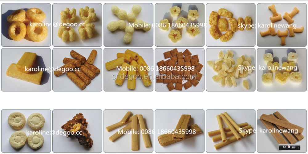 Corn Puff Snacks Leisure Inflating Food Extruder Machine Equipment Line