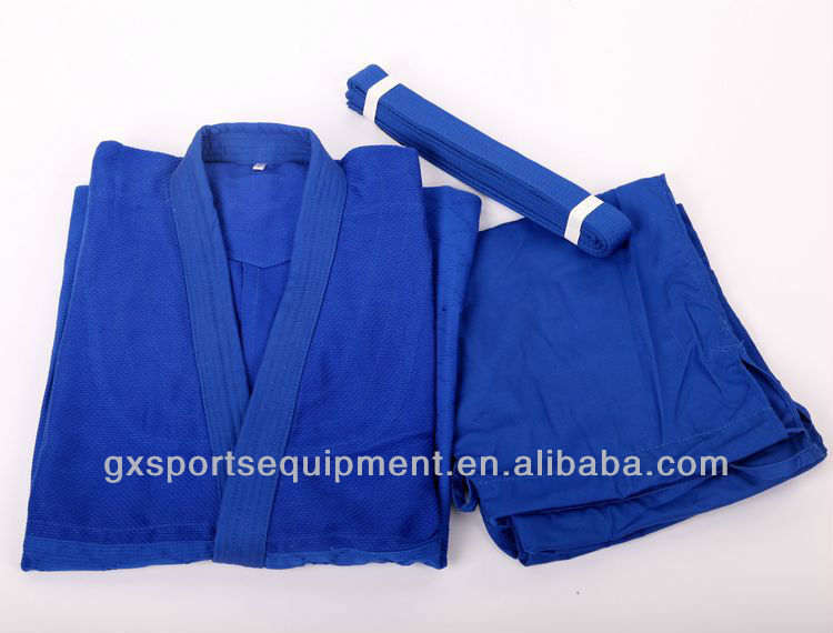 Jiu Jitsu Gi judo suit/uniform Single Weave with belts