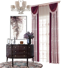 High quality new chinese style silk fancy door embroidery curtain