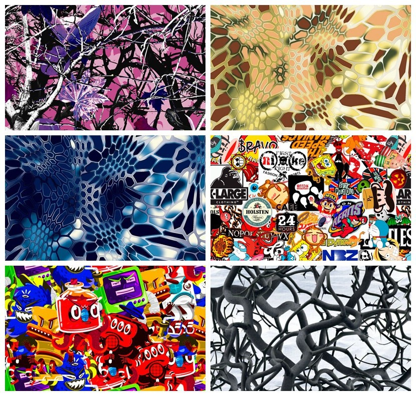 royalty design water transfer printing paper, hydrographic film water transfer No. LYH-FS02 A3 size 20 patterns
