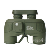 military waterproof 10X50 binoculars with compass rangefinder telescope