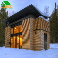 steel Structure prefab Wooden House/Fast prefabricated lovely small cabin shipping container