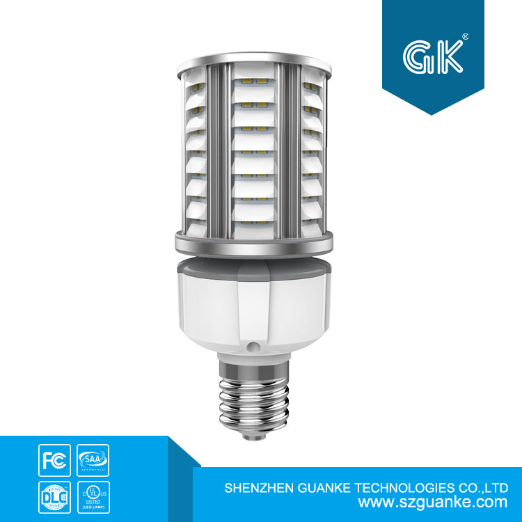 CE DLC UL 27w LED Dark Sky Corn Lamp Application in Post Top Street Garden Light With America Patent