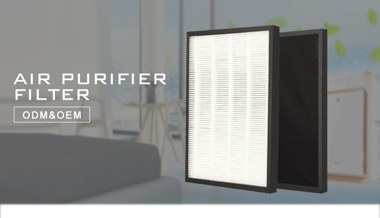 Air purifier cleanable hepa filter with metal quiet portable room