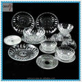 cheap round clear glass dinner plates glass plate set
