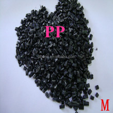 recycled black pp polypropylene granules pp granules injection grade granules plastic raw material price