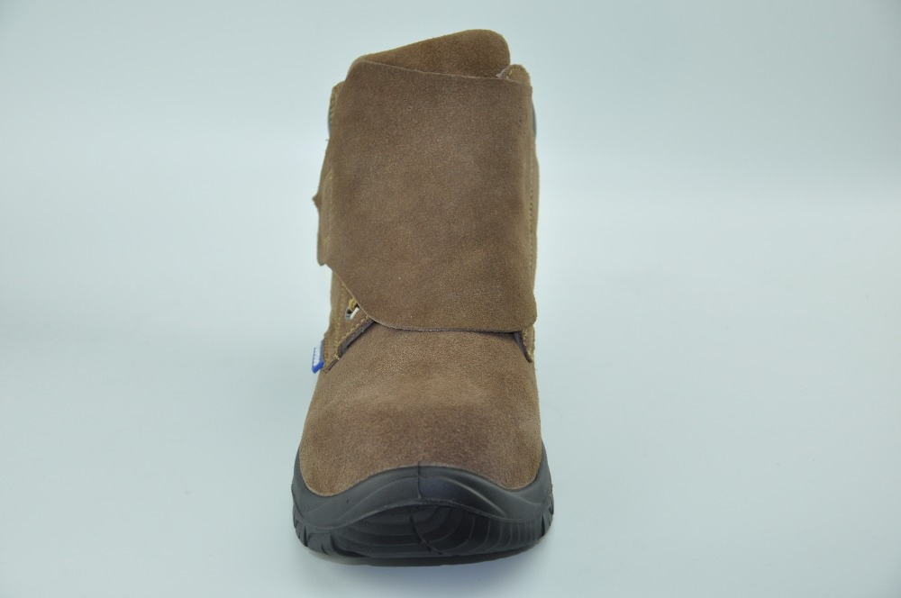 Cow Suede Leather steel toe 8 inch work Safety Boots
