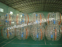 Adults and kids inflatable bumper ball, human hamster ball, inflatable soccer bubble ball for sales