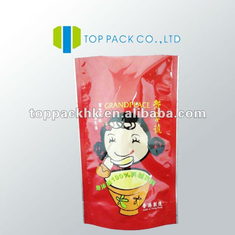 Sauces plastic packaging bags