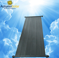 black Polypropylene flat plate solar collector for swimming pool heating