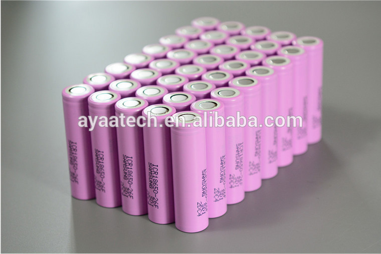 High Quality brand li-ion rechargeable battery 2600mah 18650 battery(ICR18650 26F)