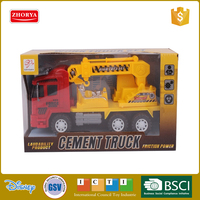 Zhorya 6 channel 2 colors children plastic friction car toy cement truck