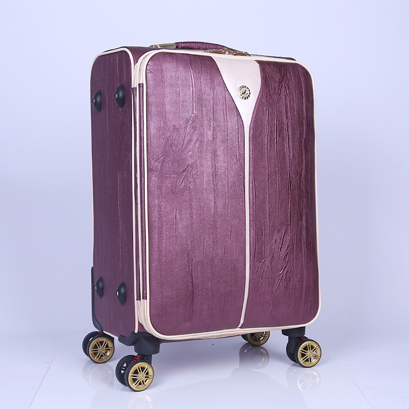 Hot sale new fashionable printed 24 inch vintage style luggage