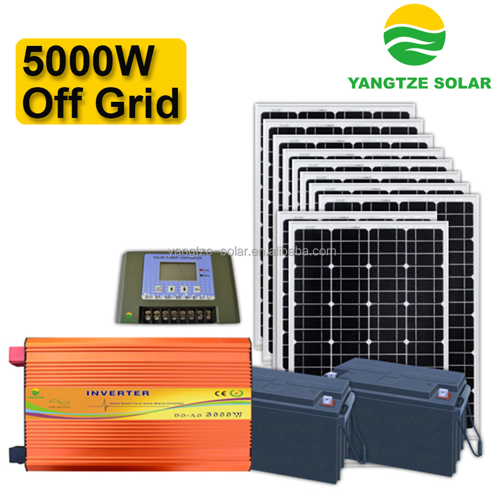 free shipping off grid 5kw solar system dubai with cheap price