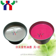 solar discoloration ink for screen printing