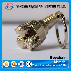 Oil Drill Rig 3D Model Keychain Custom Drill Bit Keyring Parts