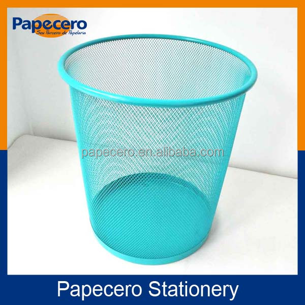 Office Stationery 3 Size Round Mesh Wire Metal Paper Waste Bin/Trash Can