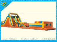 large amusement park outdoor inflatable water obstacle course game on sale