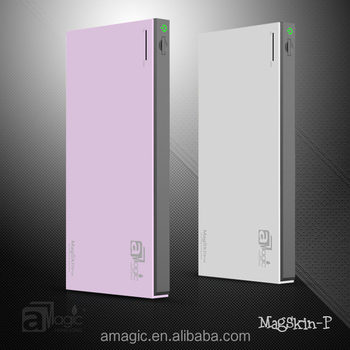 aMagic stylish&patent 6000mAh pocket power bank for Samsung&Apple devices