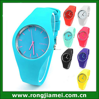 Candy geneva quartz silicone cheap ladies fancy watches