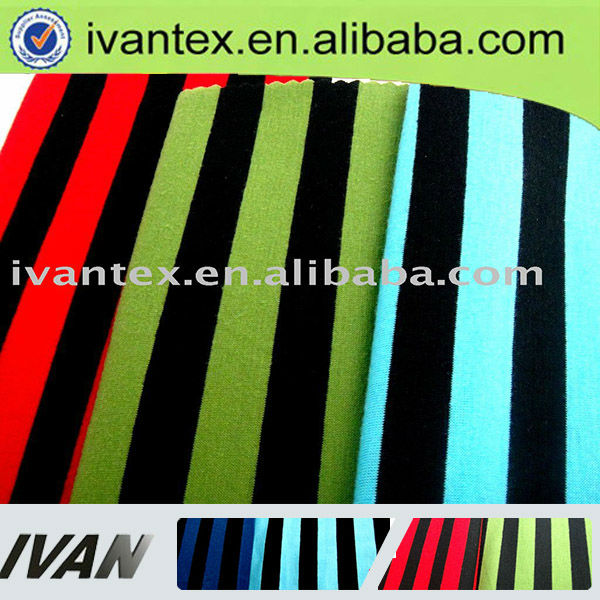 Fashion new design pretty soft textile Poly Spun yarn dyed stripe shirt fabric