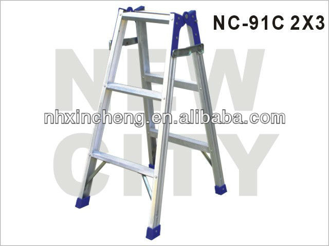 6 steps double side folding step ladder hinge