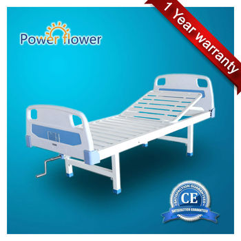 Simple manual single crank hospital bed with CE@ISO certificated (Model:A26)