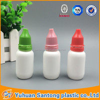 BV and FDA LDPE tamper proofwith screw Cap plastic bottles 15ml for eye dropper
