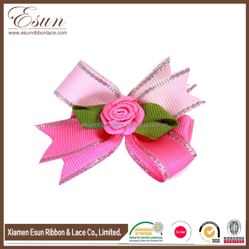 2014 Best Handmade children hair clips flower shape kids hairpin supplier