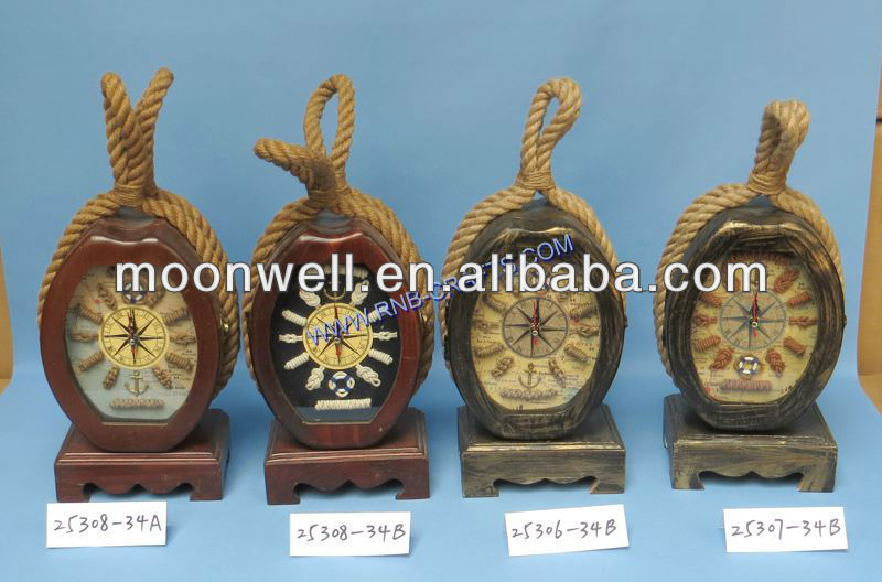 Wooden key box,Pulley shape Shadow box,Window box with clock,Nautical key cabinet,Gifts,Souvenir,Handicrafts,Home Decoration