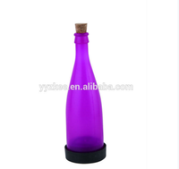 LED Light Solar Glass Plastic Bottle