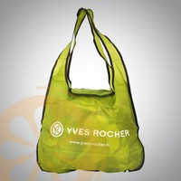 OEM Personalized Reusable Eco Custom Nylon folden shopping bag Tote Shopper Bag with Dual handles