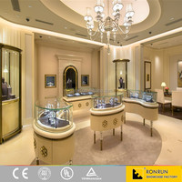 Hot 2016 jewel store luxury jewelry counter glass display case for jewelry