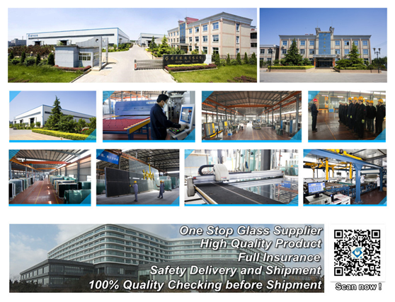 2015 engery saving glass 5mm clear tempered glass+9A+5mm XINYI low-e insulated glass building glass