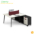 Modern wooden office furmiture table design 4 seat cubicle office workstation cubicle computer office desk
