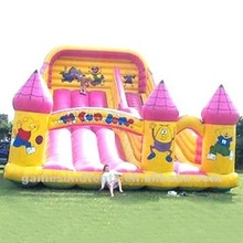 inflatable castle bouncer with slide, combos inflatable slide A4028