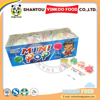 Mini Colorful Round Shape Flat Lollipop Candy