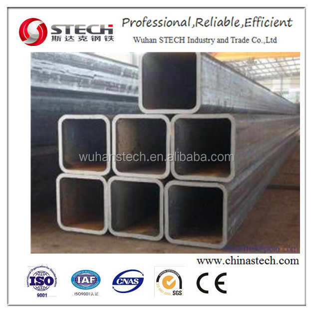 High strength S235JR welded square steel tubing/tube galvanized square tube steel