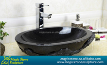 oval shaped granite stone basin for warming home