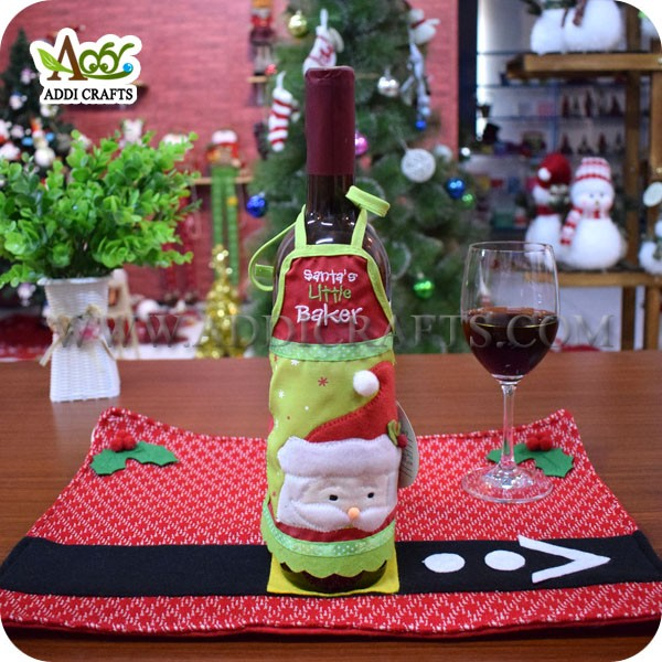 Christmas Home Decoration Christmas Dining Table Decoration Apron Wine Bottle Cover