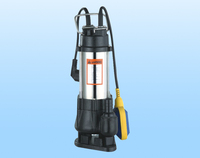 2015 New design high head V1100F float switch submersible pump sewage pump waste water pump