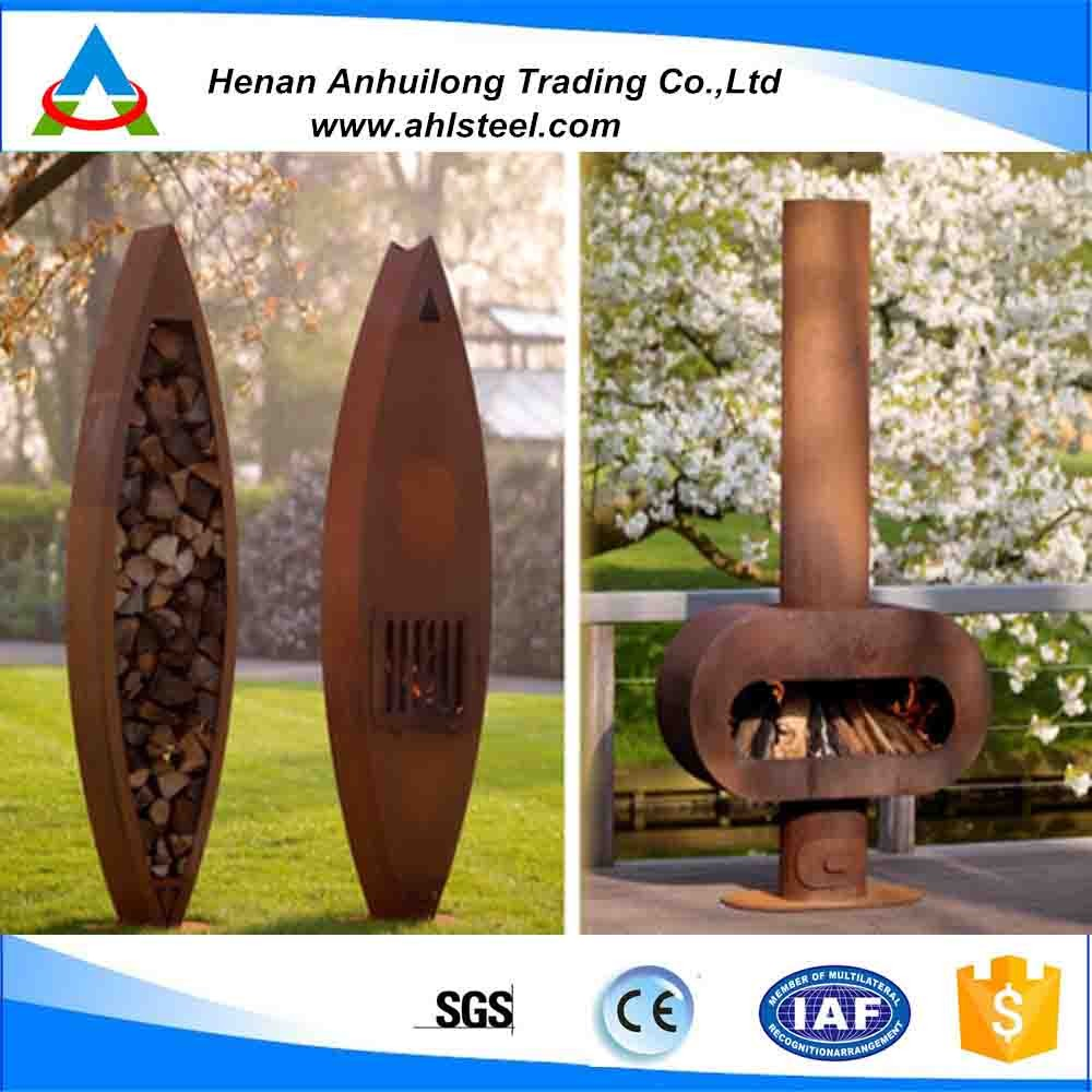 Decorative Cast Iron Mexican Chimenea Outdoor